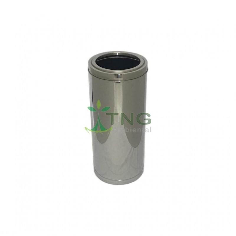 Lixeira 25 litros em aço inox com aro