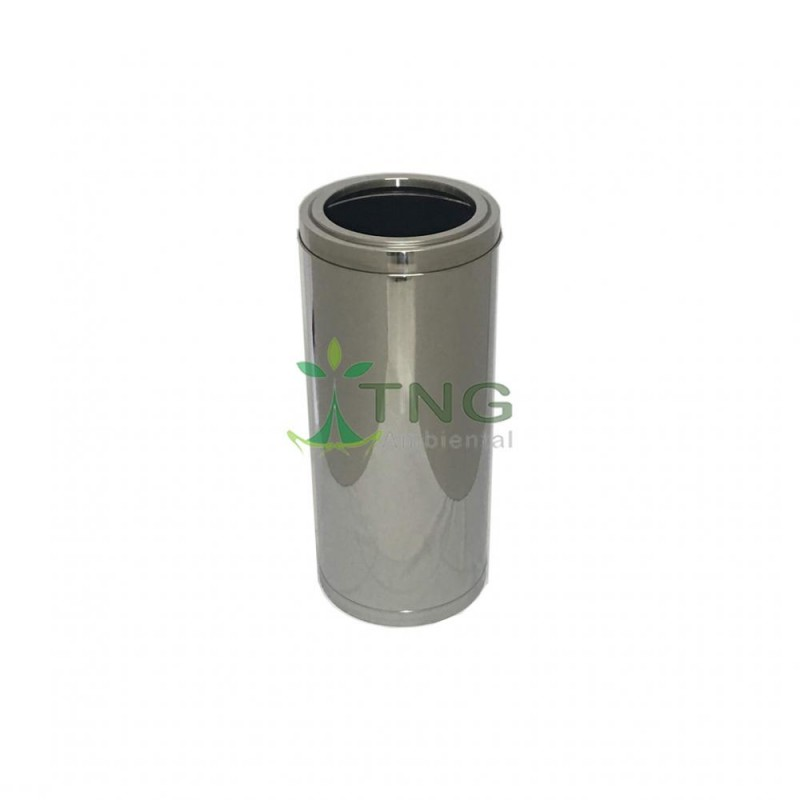 Lixeira 50 litros em aço inox com aro