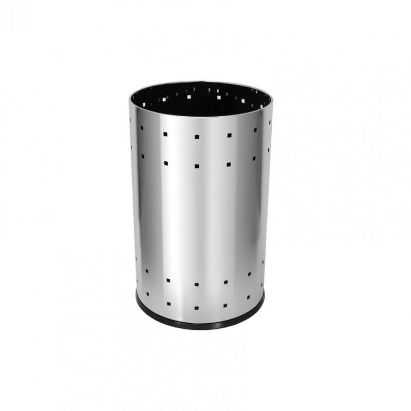 Lixeira 36 litros em aço inox telada
