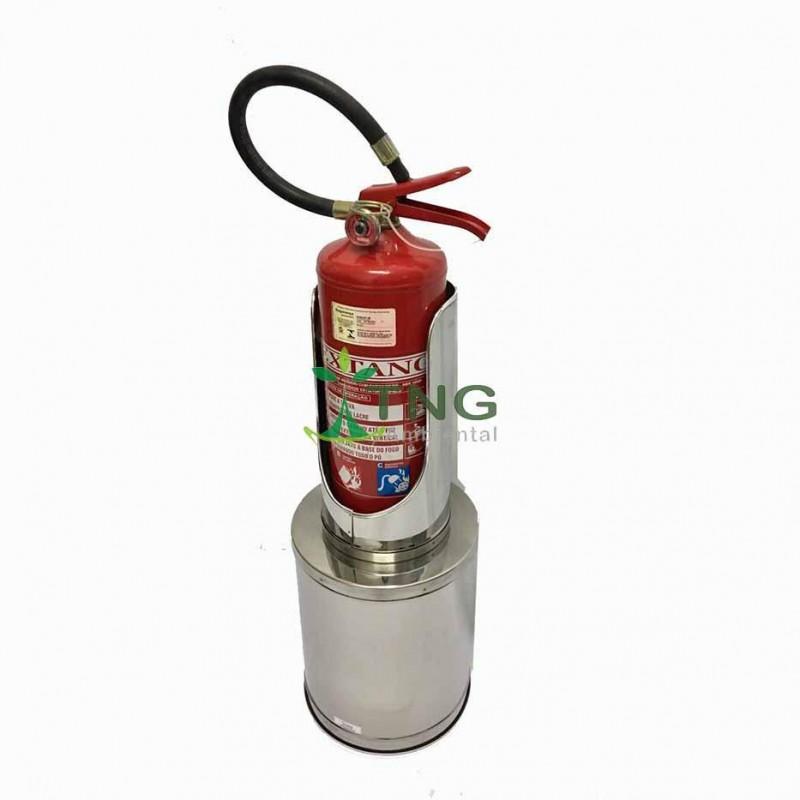 Porta extintor em aço inox