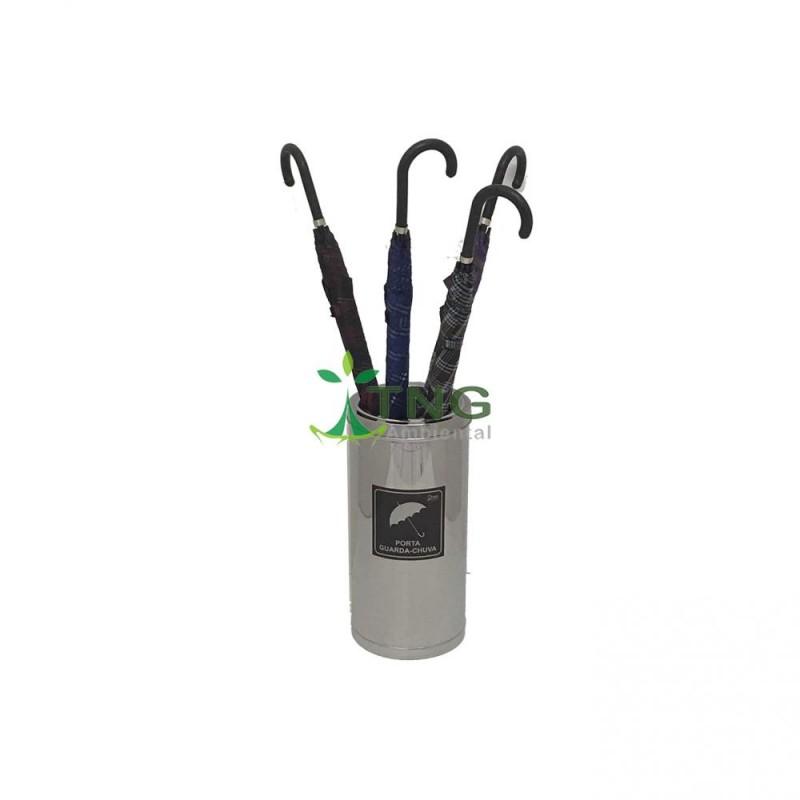 Porta guarda-chuva em aço inox com aro