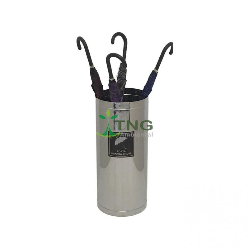 Porta guarda-chuva em aço inox