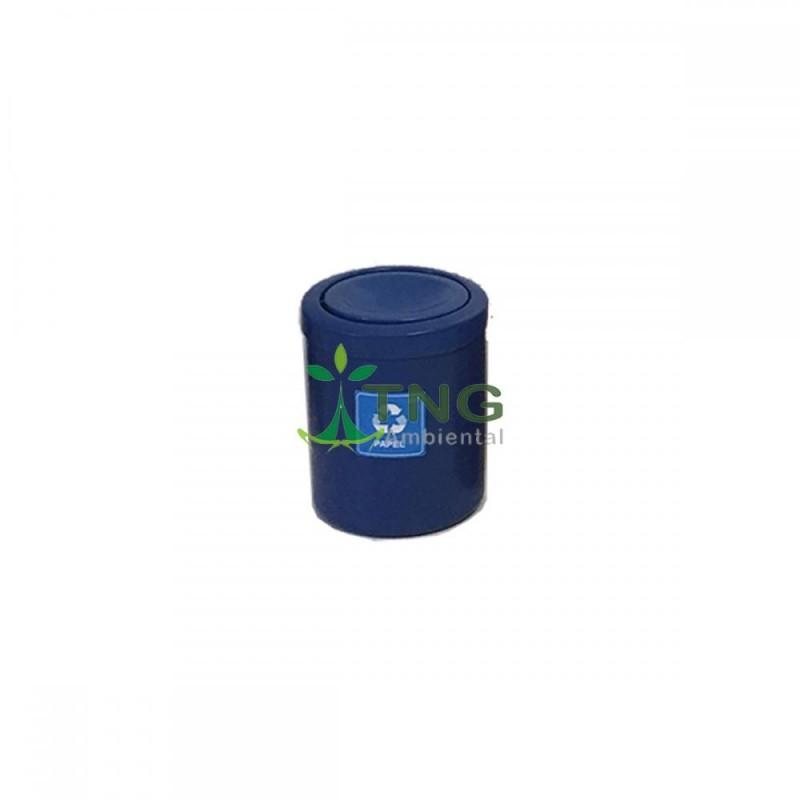 Lixeira 15 litros em plástico com tampa flip-top