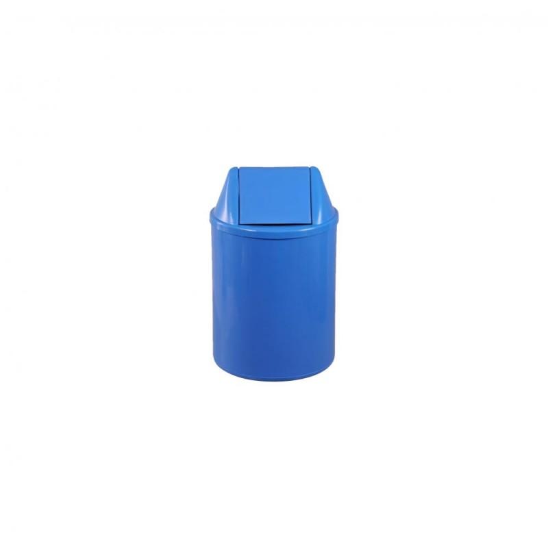 Lixeira 15 litros em plástico com tampa vai-vem
