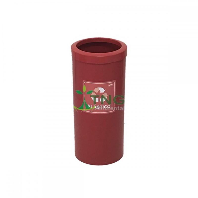 Lixeira 25 litros em plástico com aro