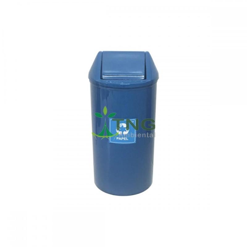 Lixeira 65 litros em fiberglass com tampa vai-vem