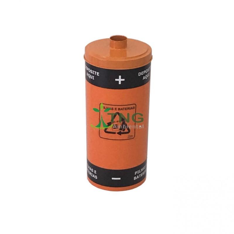 Coletor de pilhas e baterias 25 litros em plástico