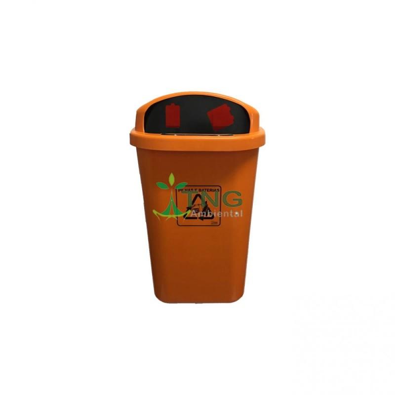 Coletor de pilhas 50 litros em plástico