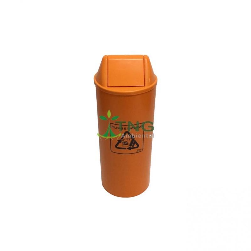 Coletor de pilhas 25 litros em plástico
