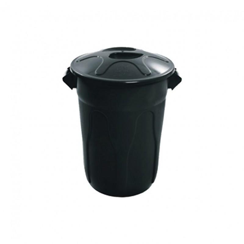 Lixeira 60 litros em plástico com tampa de sobrepor