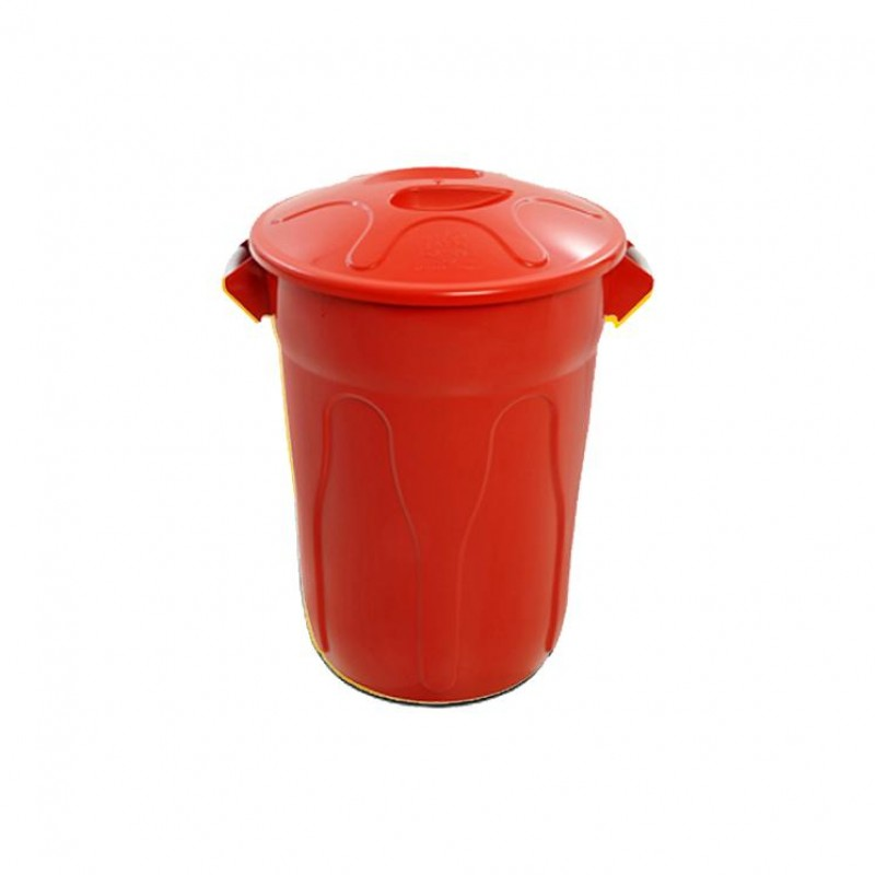 Lixeira 100 litros em plástico com tampa de sobrepor