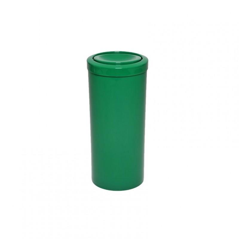 Lixeira 25 litros em plástico com tampa flip-top