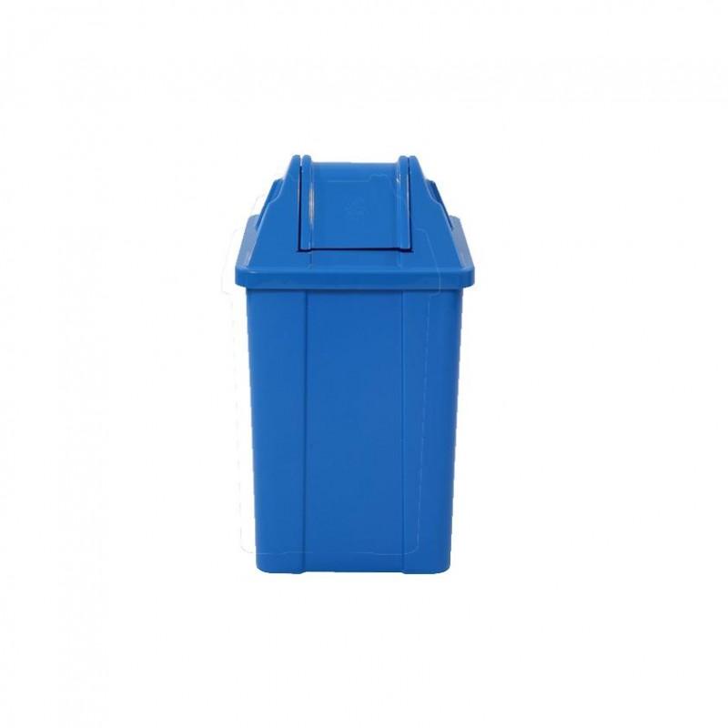 Lixeira 25 litros em plástico com tampa vai-vem