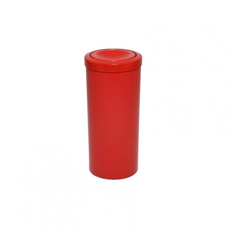 Lixeira 50 litros em plástico com tampa flip-top