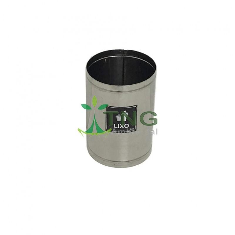 Lixeira 15 litros em aço inox