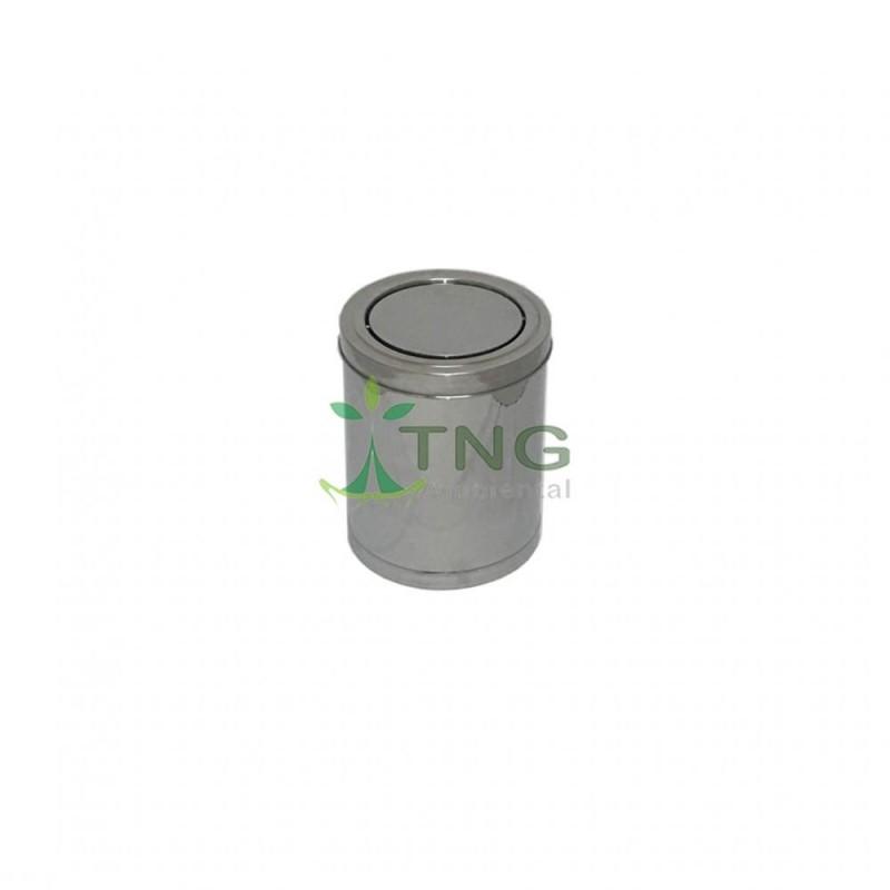 Lixeira 15 litros em aço inox com tampa flip-top
