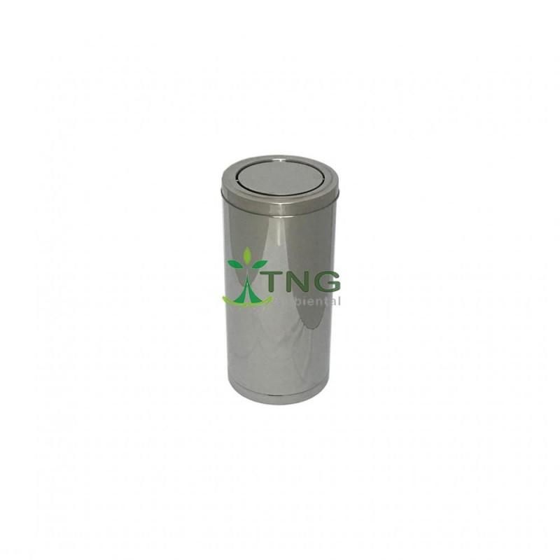 Lixeira 32 litros litros em aço inox com tampa flip-top