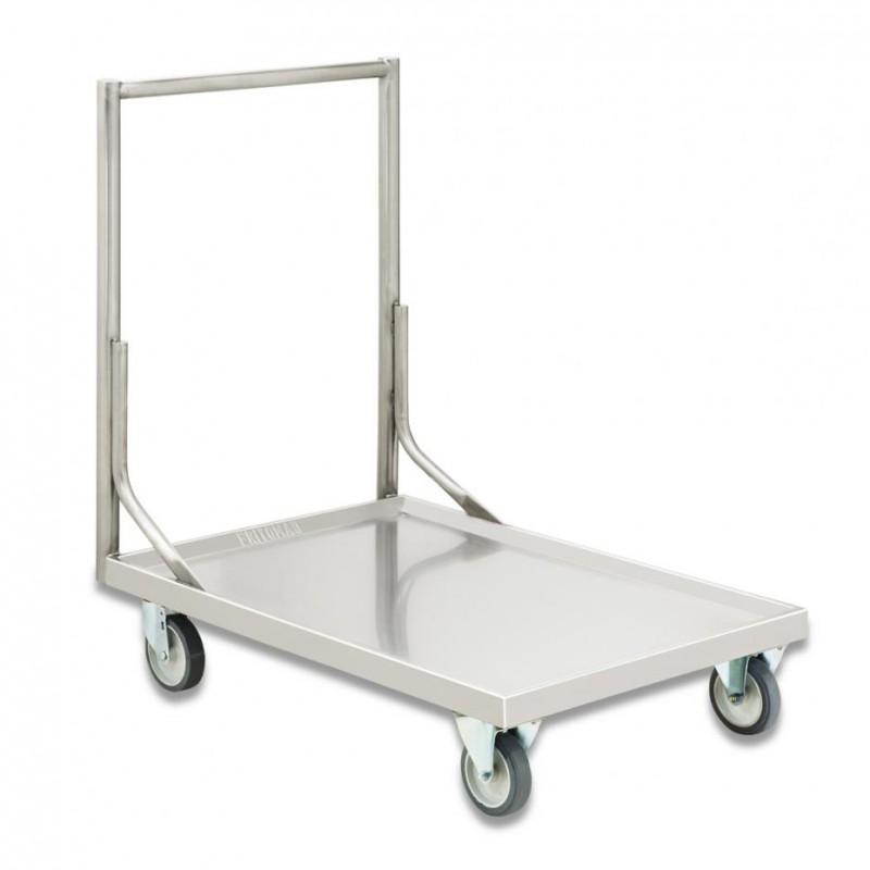 Carro plataforma em aço inox 304