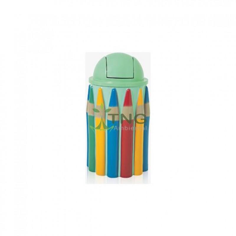 Lixeira infantil caixa de lápis redondo