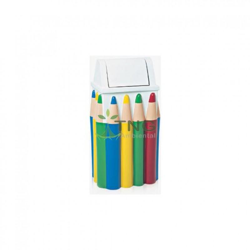 Lixeira infantil caixa de lápis quadrada