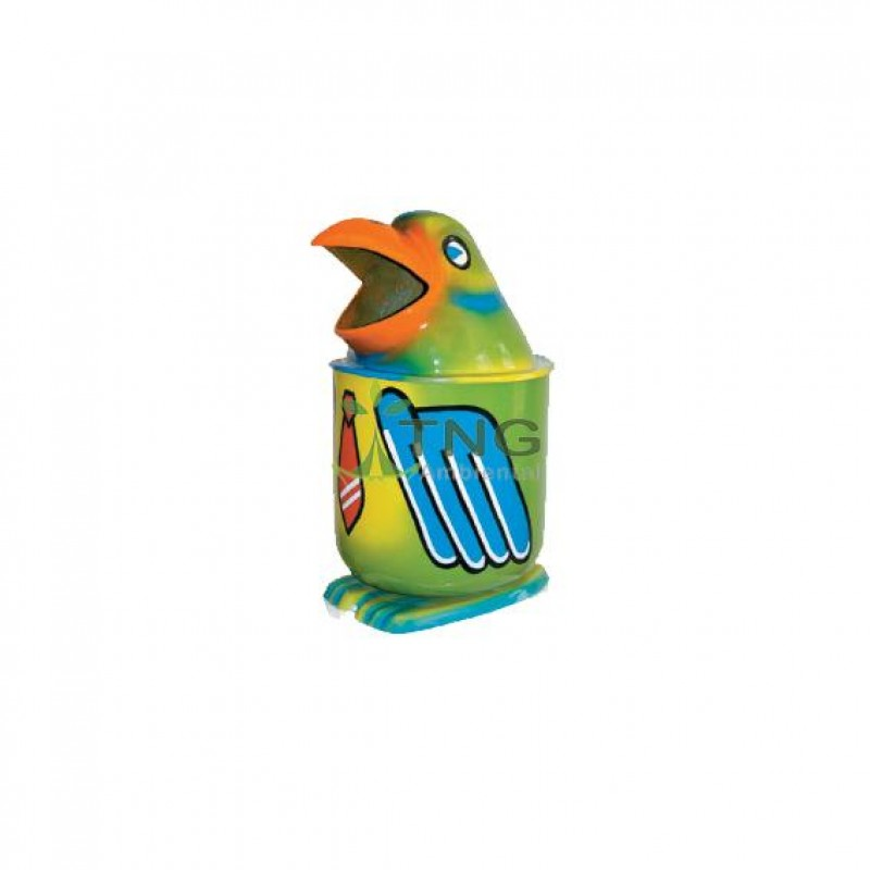 Lixeira infantil papagaio