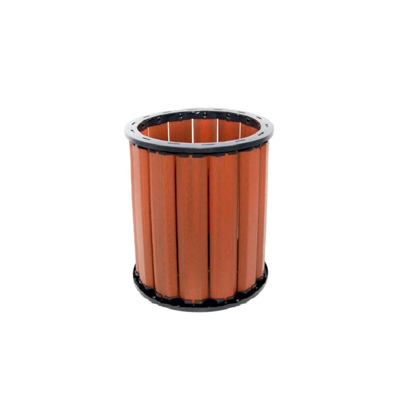 Lixeira 94 litros em madeira plástica