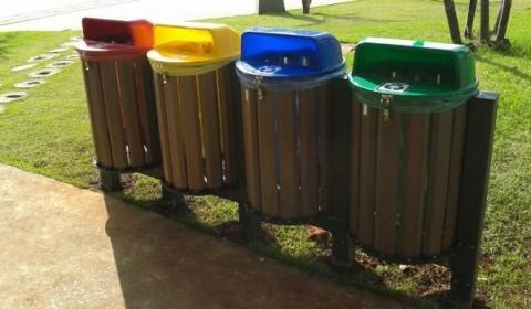 Madeira plástica reciclada