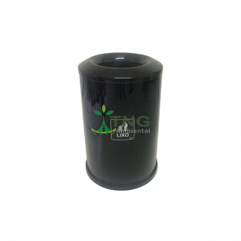 Lixeira 120 litros em fiberglass com orifício superior
