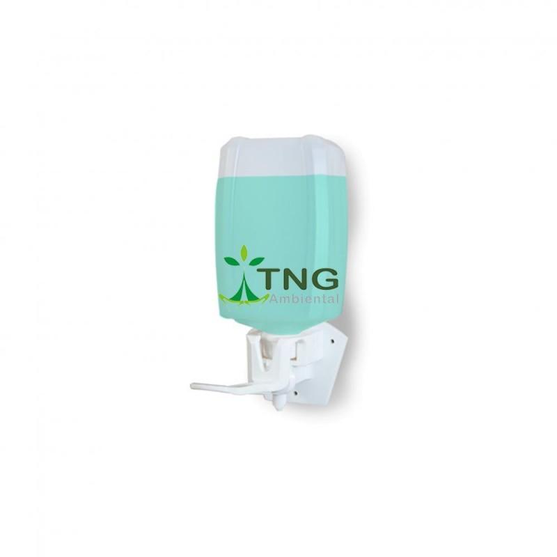 Dispenser em plástico para sabonete líquido e álcool em gel