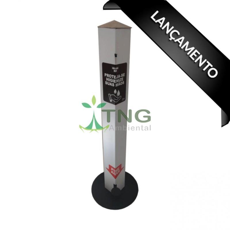 Dispenser em aço com pintura eletrostática para álcool em gel 1 litro