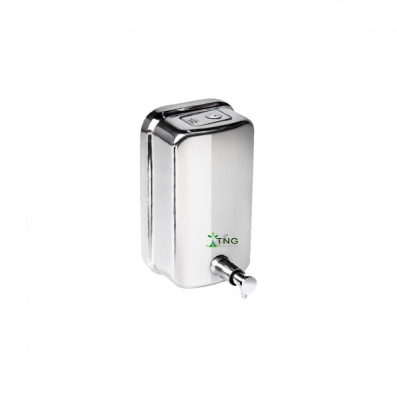 Dispenser em aço inox 304 para sabonete líquido e álcool em gel 1.300ml