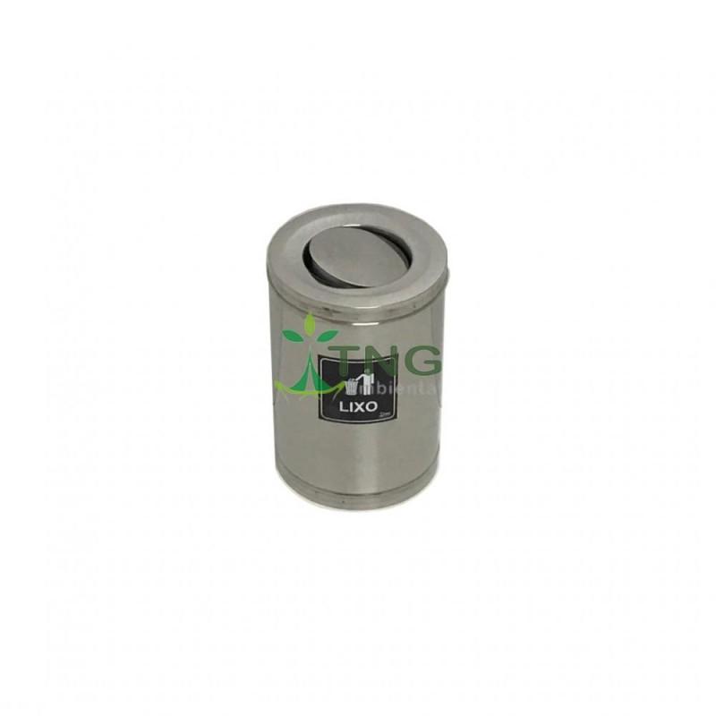Lixeira 7 litros em aço inox com tampa flip-top