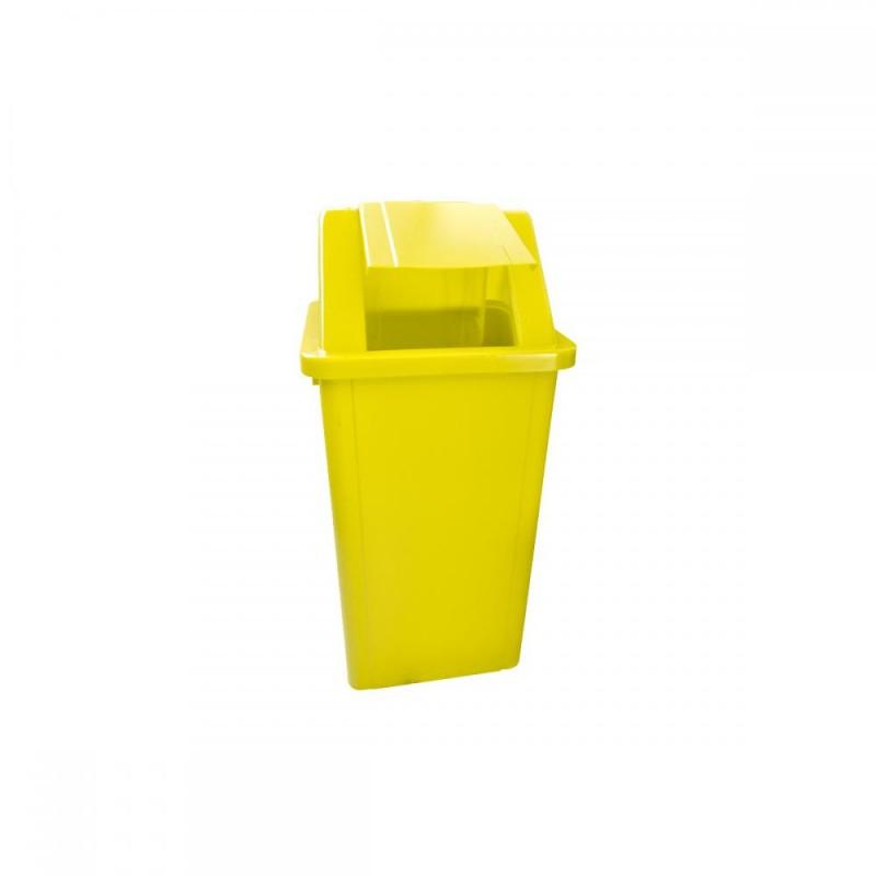 Lixeira 100 litros em plástico com tampa vai-vem