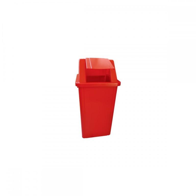 Lixeira 60 litros em plástico com tampa vai-vem