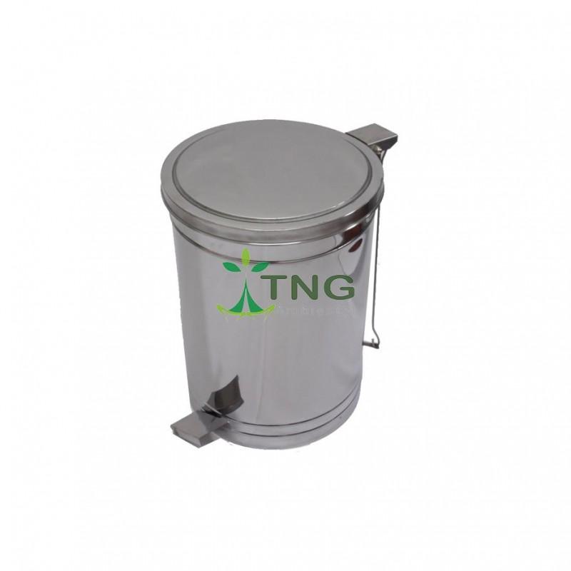 Lixeira 30 litros em aço inox com pedal e balde interno