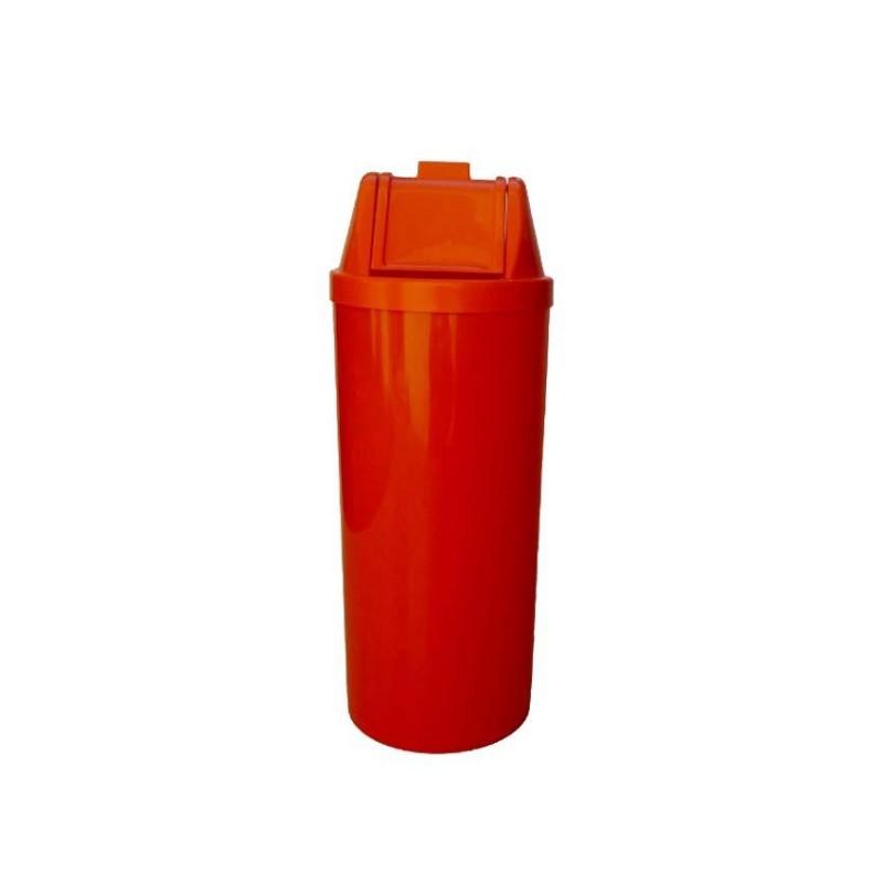 Lixeira 50 litros em plástico com tampa vai-vem