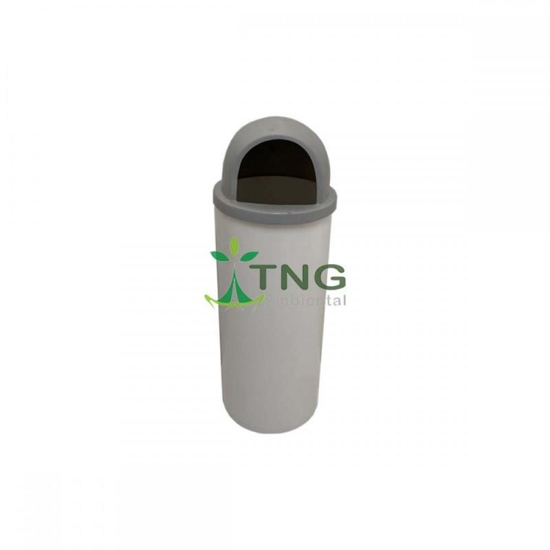 Lixeira 25 litros em plástico com tampa abertura frontal em fibra