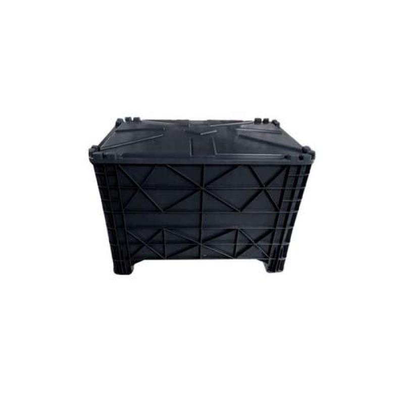 Carro caixa 370 litros com tampa