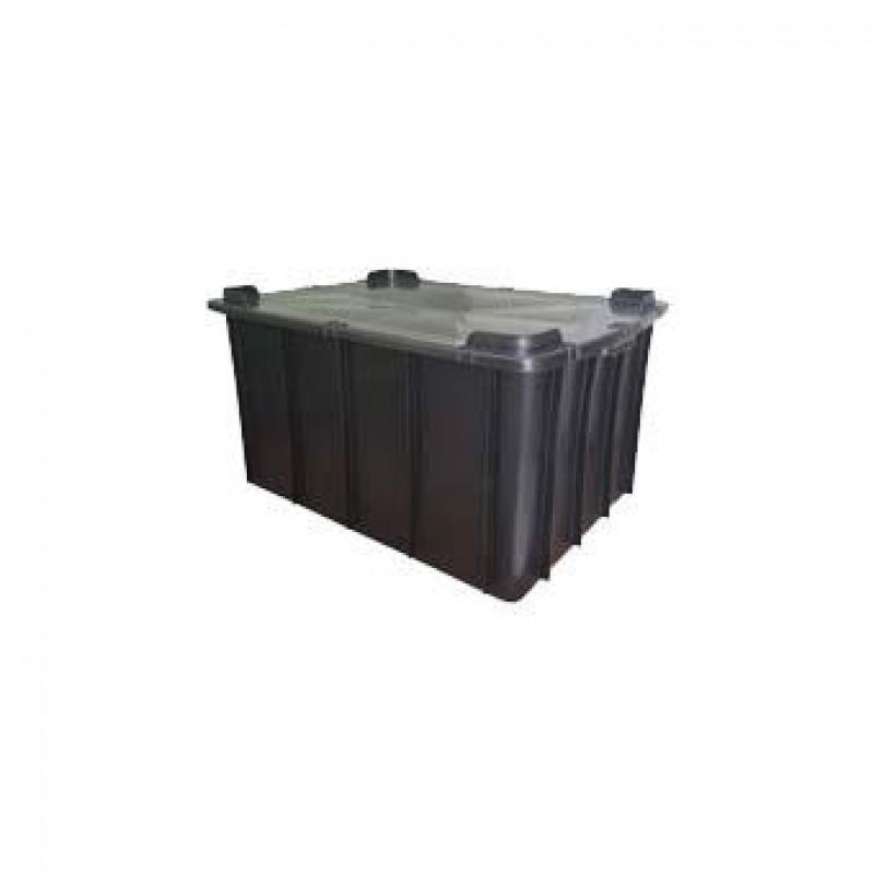 Caixa plástica fechada com tampa 130 litros