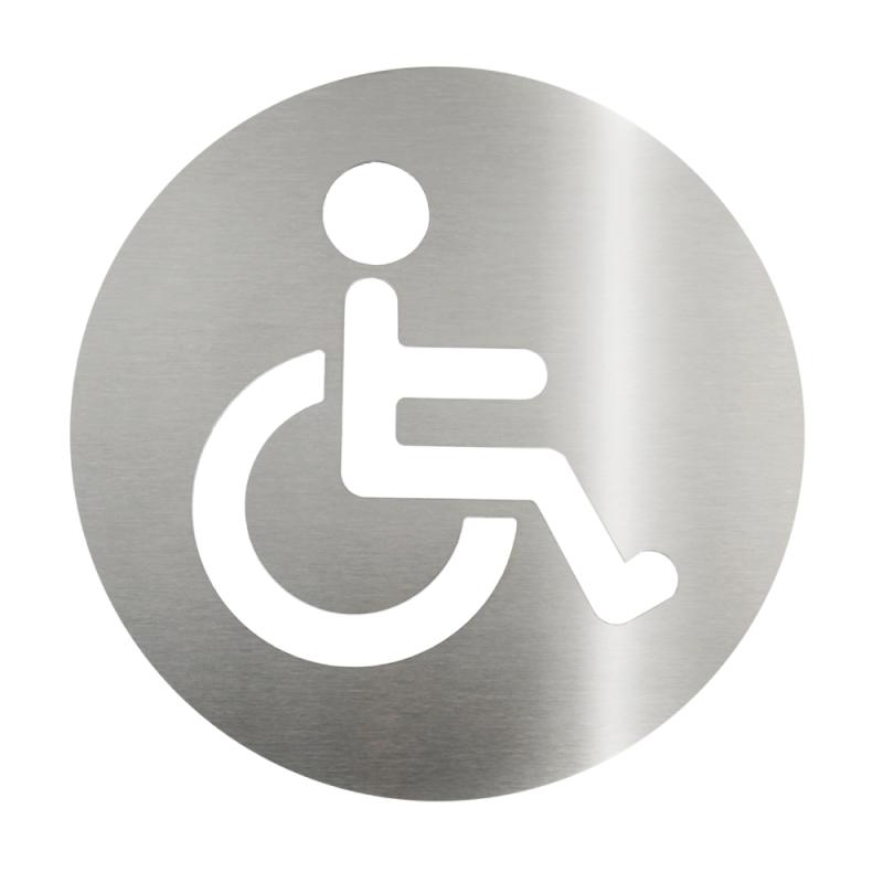 Placa em aço inox escovado - Acessível