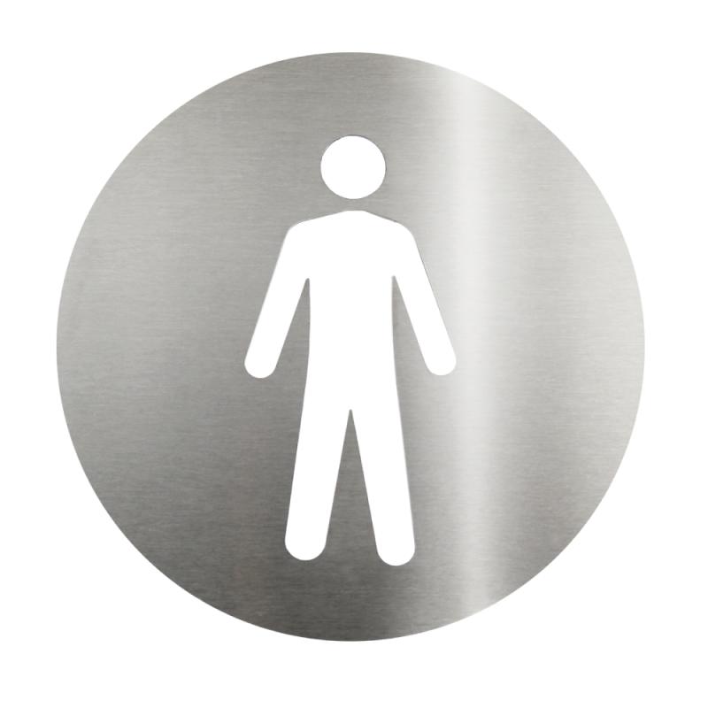 Placa em aço inox escovado - Masculino