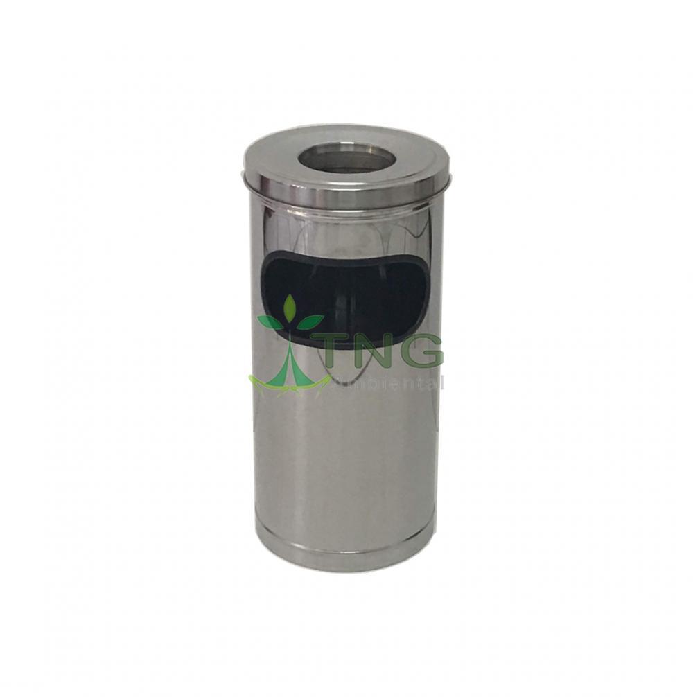 Cinzeiro 25 litros em aço inox