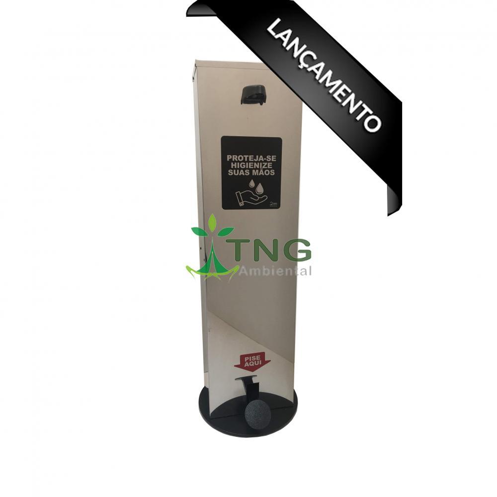 Dispenser em aço inox para álcool em gel 5 litros