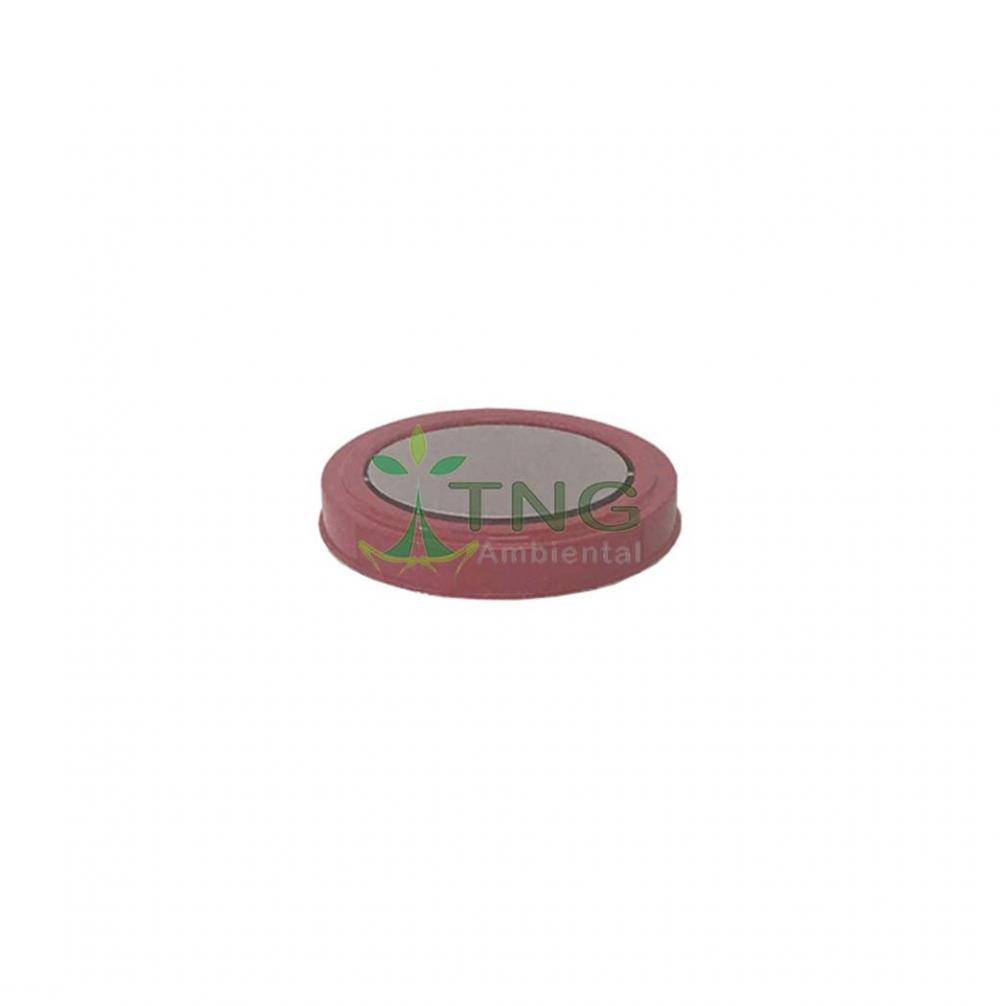 Tampa flip-top em aço inox pintado Ø24cm