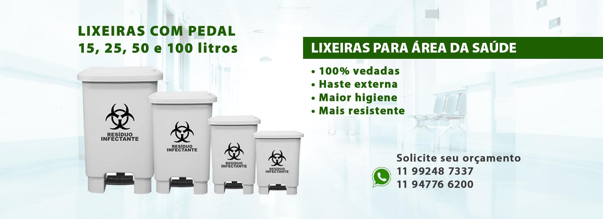 Lixeiras Hospitalares - 25, 50, 75 e 100 litros